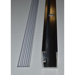 Guo Free muurprofiel 200cm.met bevestigingsstrip chroom Chroom