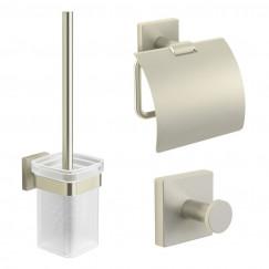 Novio Siena toiletset haak+rolhouder+borstelhouder geborsteld Geborsteld
