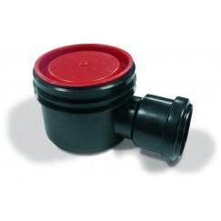 Aco Flexdrain puthuis hoog zij uitlaat met steekmof 80 mm. Zwart 406042