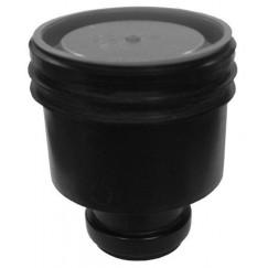 Aco Flexdrain puthuis onderuitlaat met steekmof 80 mm. zwart Zwart 406043