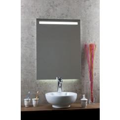 Novio Led Line spiegel 120x80 balk boven led+sensor+verwarm.