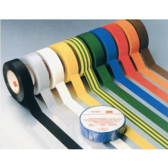 3m Temflex vinyl tape 1500 19 mm. rol 20 m. zwart Zwart TX19BK
