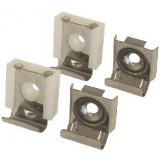 Novio M-line spiegel klemmen set 4 dlg. licht model rvs Rvs