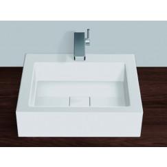 Alape Ab Serie opzet wastafel 45x50x11 cm. wit Wit 3304000000