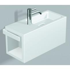 Alape Wp Serie fontein 64,5x26,8x30 cm. bak rechts m/kraangat wit Wit 5075800000