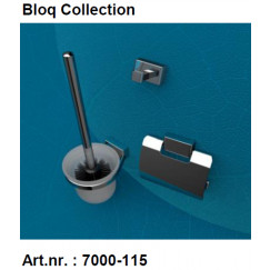 Geesa Bloq accessoires pack 7008,7010,7011+extra zw.borstel Chroom 917000-115