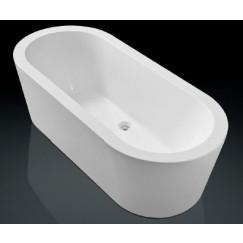 Novio Varano bad vrijstaand 177,5x79,5cm met badwaste wit Wit