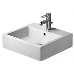 Duravit Vero wastafel 50x47 cm. met 1 kraangat wit Wit 0454500000