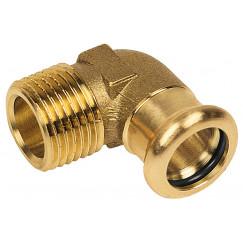 """Bonfix Press knie 1/2"""" x 15 mm. bu. x pers roodkoper Roodkoper 401505"""