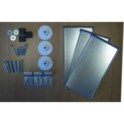 Novio M-line verdekte spiegelbevestigingset tot 2,6 m2 Aluminium Look