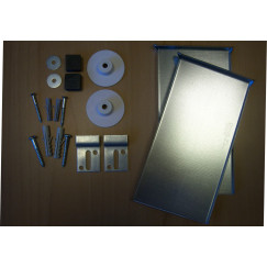 Novio M-line verdekte spiegelbevestigingset tot 1,6 m2 Aluminium Look