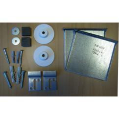 Novio M-line verdekte spiegelbevestigingset tot 0,8 m2 Aluminium Look