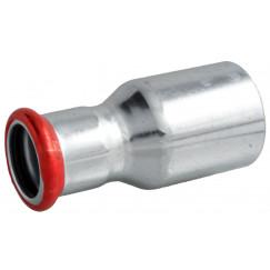 Bonfix Press rechte verloopkopp. 28x22mmsteekxpers staalverz. Staal Verzinkt 300320