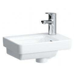 Laufen Pro S fontein 36x25 cm. 1x kr.gat rechts m/overloop wit Wit H8159600001041