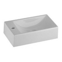 Geberit Serie 420 fontein 40x23 cm. bak rechts wit Wit S8440000000-1