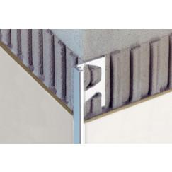 Schluter Jolly-a buitenhoekprofiel aluminium chroom glans 10mm250cm Alu. Chroom Glanzend Geanodiseerd A100ACG