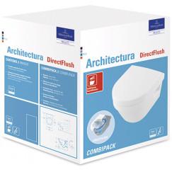 Villeroy & Boch Architectura pack wandcloset directflush diepsp. m/zitting wit Wit 4687HR01