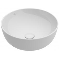 Villeroy & Boch Artis opzet wastafel 43cm zonder kraangat c-plus wit Wit 417943R1