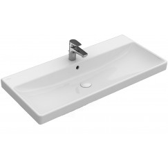 Villeroy & Boch Avento meubelwastafel 80x47cm 1 krgat m/overloop wit Wit 41568001