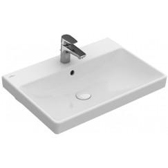 Villeroy & Boch Avento meubelwastafel 60x47cm 1 krgat m/overloop wit Wit 41586001