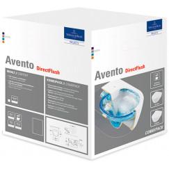 Villeroy & Boch Avento pack wandcloset directflush diepspoel zitting wit Wit 5656HR01