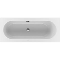 Villeroy & Boch Loop & Friends bad rechthoek 170x75cm ovale binnenvorm wit Wit UBA170LFO2V-01
