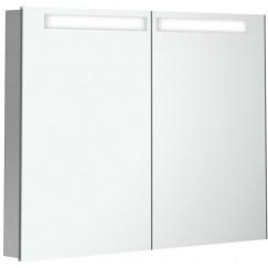 Villeroy & Boch My View In inbouw spiegelkast 80 cm.2xdeur+led+vergr.spiegel