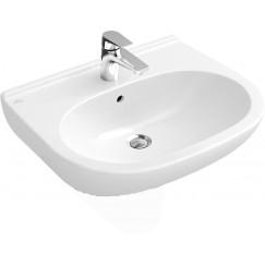 Villeroy & Boch O.novo wastafel 60x49 cm. met overloop wit Wit 51606001