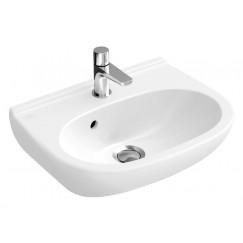 Villeroy & Boch O.novo compact fontein 50x40 m/kraangat en overloop wit Wit 53605001