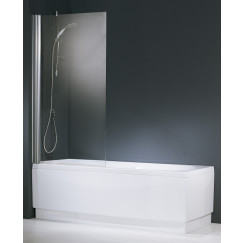 Novellini Aurora 1-delige badwand 80x150 omkeerbaar matchr-helder Mat Zilver AURORAN1801B