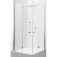 Novellini Young 2.0 deur vouw 2-dlg 89x200cm links mat chroom-helder Mat Chroom Y22GS89LS1B