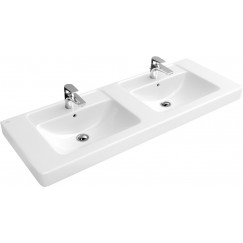 Villeroy & Boch Omnia Architectura dubbele meubelwastafel 130x49 cm. wit Wit 61311301