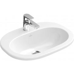 Villeroy & Boch O.novo inbouwwastafel 40.5x56cm 1 kraangat + overloop wit Wit 41615601