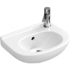 Villeroy & Boch O.novo fontein 36x27.5cm kraangat rechts met overloop wit Wit 53603801