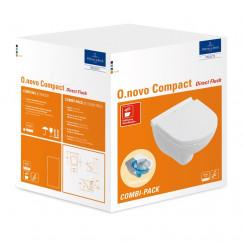 Villeroy & Boch O.novo wandcloset compact directflush +zitt.sc+qr c+ wit Wit 5688HRR1