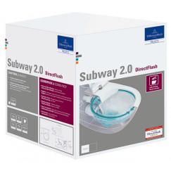 Villeroy & Boch Subway 2.0 wandcloset directflush +slimseat zitt.sc+qr c+ wit Wit 5614R2R1