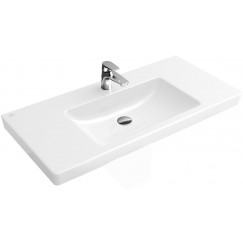 Villeroy & Boch Subway 2.0 wastafel 80x47 1 kraangat m/overloop c-plus wit Wit 717580R1