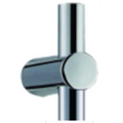 Guo Be Fresh Round 2.0 bovenste bevestigingselement voor glijstang chroom Chroom