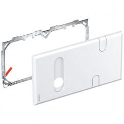 Geberit  afdekplaat v/inbouw installatiebox m/aansl.bocht Wit 116426111