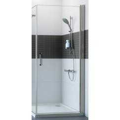 Huppe Classics 2 draaideur 80 x 190 cm. voor zijwand/hoekinstap Matzilver-helder Glas C23401087321