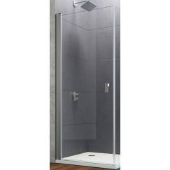 Huppe Design Pure draaideur stn 80 x 200 cm. Matzilver-antiplaque Glas 8P0604087322