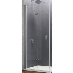 Huppe Design Pure deur vouw 2-delig 90x200cm links helder mat zilver Mat Zilver 8P0810087321