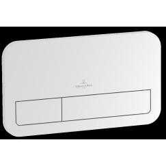 Villeroy & Boch Viconnect 2-knops bedieningsplaat e200 25,3x14,5 cm. edelmat Edelmat 92249069