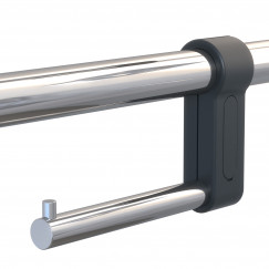Geesa Comfort & Safety closetrolhouder voor toiletbeugel chroom Chroom 915805-02