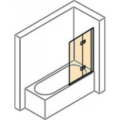 Huppe Design Pure badklapwand 2-dlg re.100x150 antiplaque matzilver Mat Zilver 8P2401087322