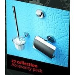 Geesa 27 Collection accessoires pack 912708-912711-912713-02+zw.borste Chroom 91270002115