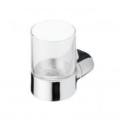 Geesa Wynk glashouder met glas chroom Chroom 914502-02
