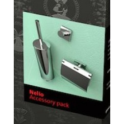 Geesa Nelio accessoirepack 916808,916511,916813+borstel chroom Chroom 916800-02-115