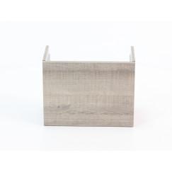 Novio Finn fonteinonderkast 40 cm. links grijs eiken 50 Grijs Eiken 50