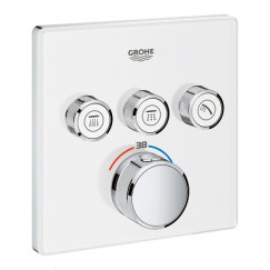 Grohe Grohtherm Smartcontrol afdekset douchethermostaat vierk.m/o.3x moonwhit Moon White 29157LS0